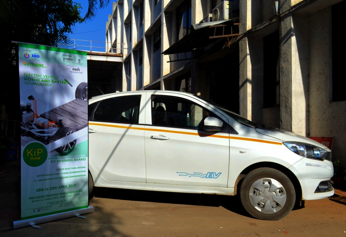 Demonstrated  TATA Tigor EV during the KIP